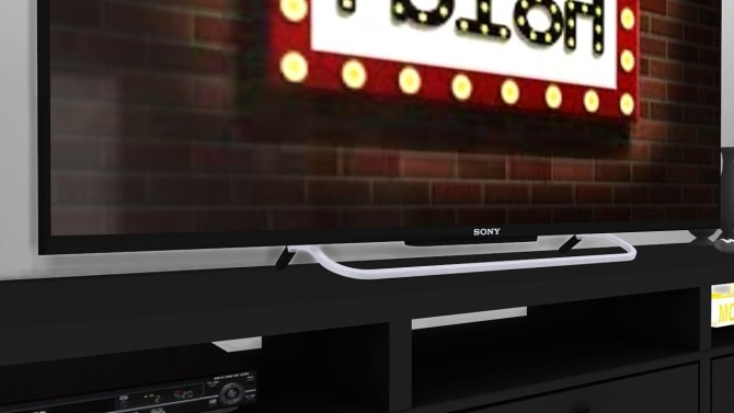 Sims 4 SONY KDL50W800B LED TV Stand Version at MXIMS