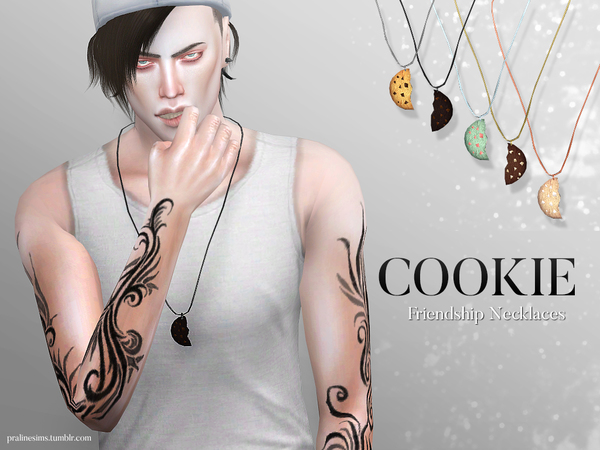 Cookie Friendship Necklaces by Pralinesims at TSR image 860 Sims 4 Updates
