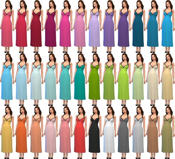 Sims 4 Deeetrons Summer Party Dress Recolors by deelitefulsimmer at SimsWorkshop