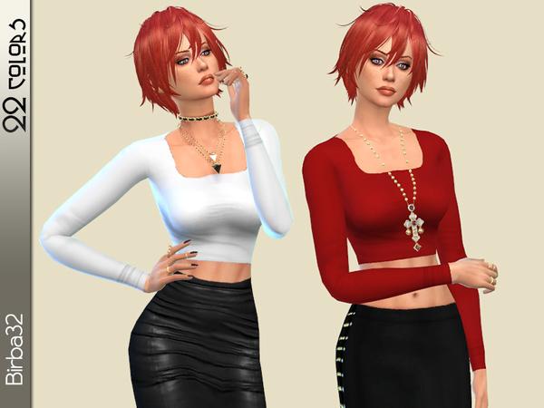 Sims 4 Basic T shirts by Birba32 at TSR