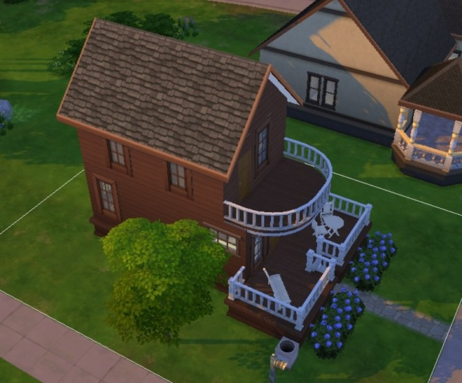 Sims 4 Tiny Split Level Starter by stfrancis at Mod The Sims