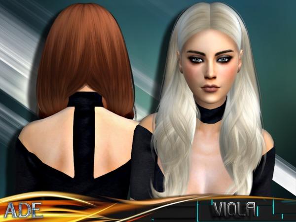 Sims 4 Viola hair by Ade Darma at TSR