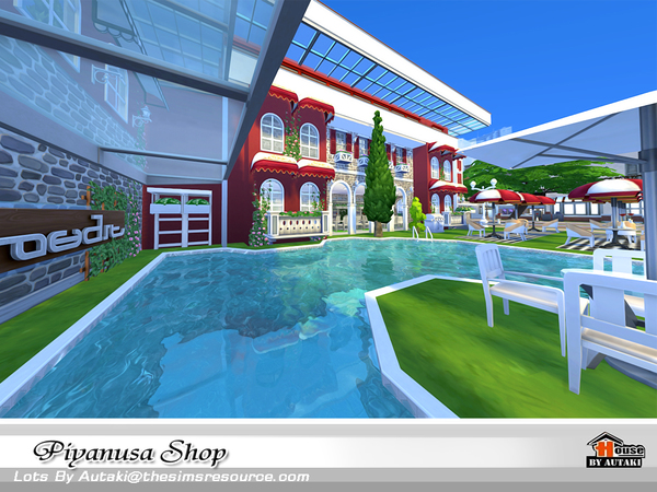 Sims 4 Piyanusa Shop by autaki at TSR