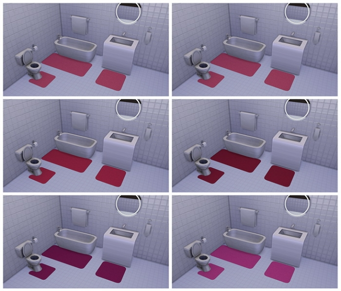 Bath Rugs By Deelitefulsimmer At Tsr 187 Sims 4 Updates