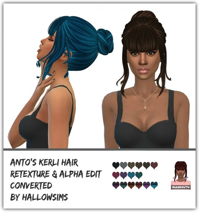 Kerli Hair Ethnic Retexture at Maimouth Sims4 image 9316 670x711 Sims 4 Updates