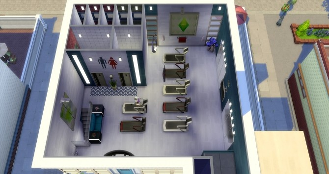 Sims 4 The Flash gym at Studio Sims Creation