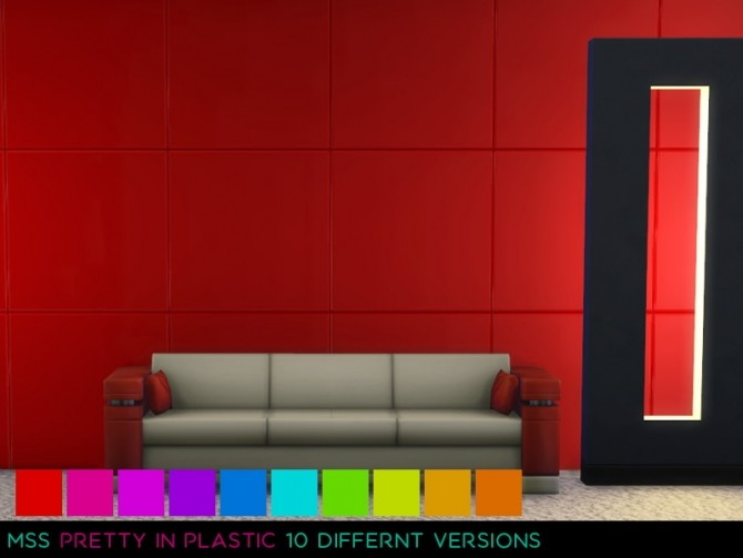 Sims 4 Pretty In Plastic Wall by midnightskysims at SimsWorkshop