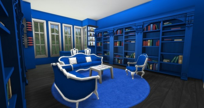 Blue Library by DollFaceSim at SimsWorkshop image 988 670x355 Sims 4 Updates