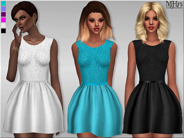 Sims 4 Delicate Lace Dress by Margeh75 at Sims Addictions