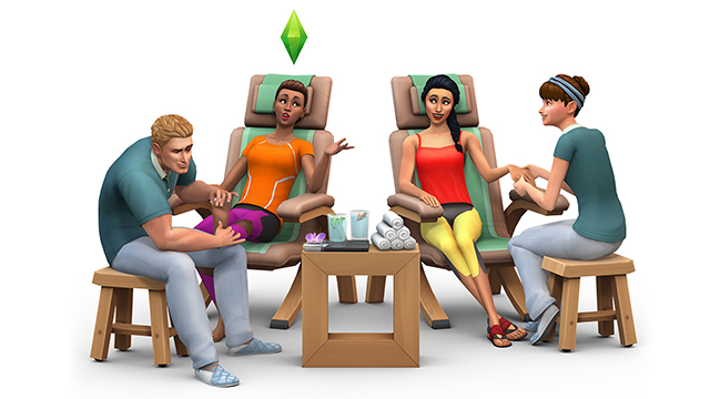 The Sims 4 Expansion & Stuff Packs list image The Sims 4 Spa Day Sims 4 Updates