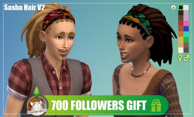 Sims 4 Sasha hair v2 by Standardheld at SimsWorkshop