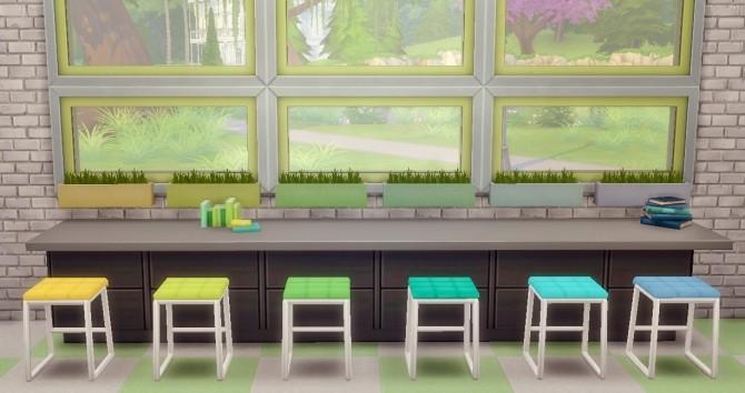 Sims 4 Snazzy Squared Stools at Hamburger Cakes
