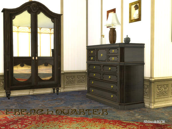 French Quarter Bedroom by ShinoKCR at TSR image 1020 Sims 4 Updates