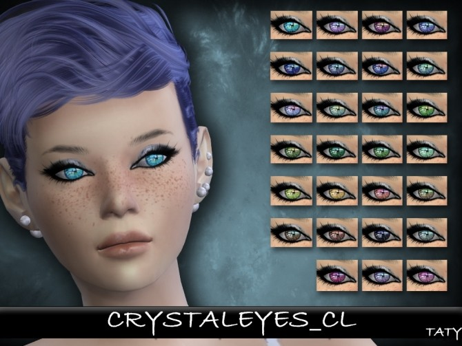 Sims 4 Crystal Eyes CL by Taty86 at SimsWorkshop