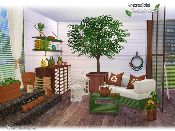 Gardening Foyer Plants by SIMcredible at TSR image 1060 Sims 4 Updates