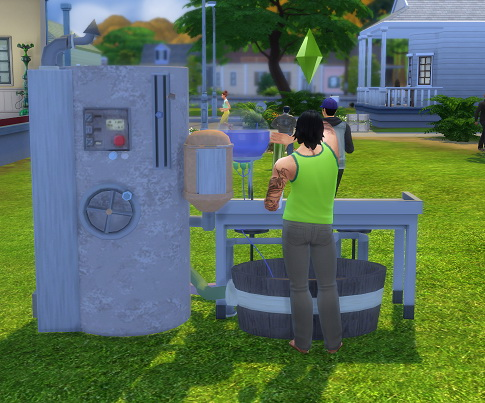 Sims 4 Industrial Strength Nectar Bar by BigUglyHag at SimsWorkshop