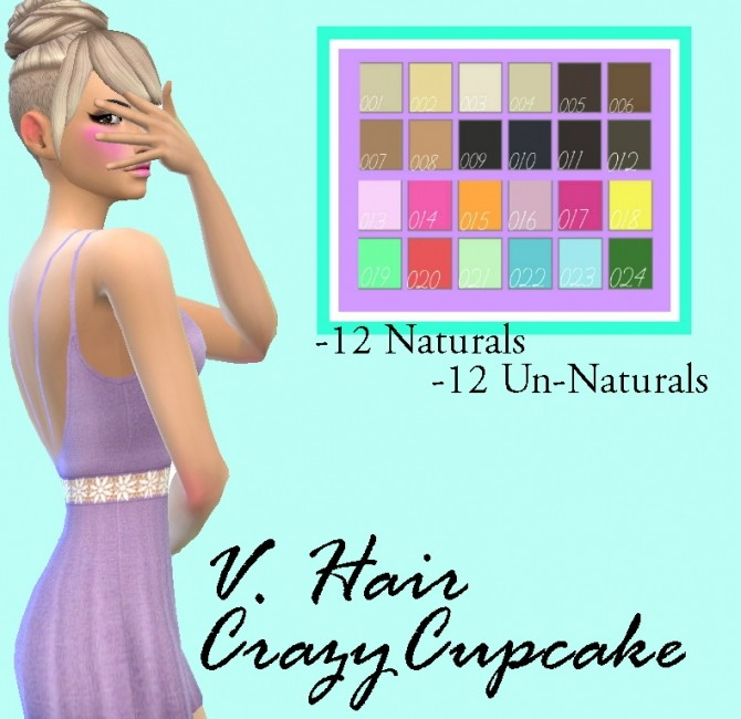 Crazycupcake V.Hair Recolor by Lovelysimmer100 at SimsWorkshop image 10812 670x650 Sims 4 Updates