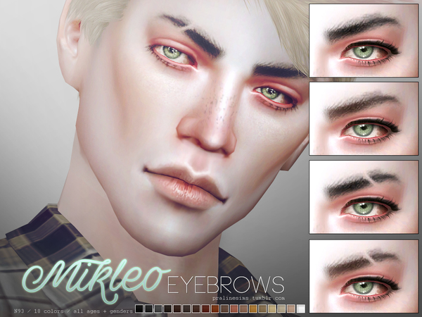 Mikleo Eyebrow Duo By Pralinesims At Tsr 187 Sims 4 Updates