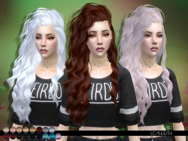 Sims 4 Strong Hair by Leah Lillith at TSR