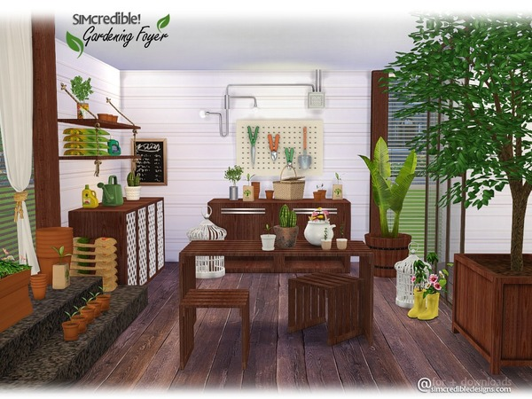 Gardening Foyer Plants by SIMcredible at TSR image 11101 Sims 4 Updates
