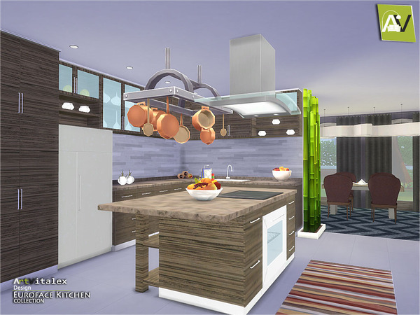 Euroface Kitchen by ArtVitalex at TSR image 11103 Sims 4 Updates