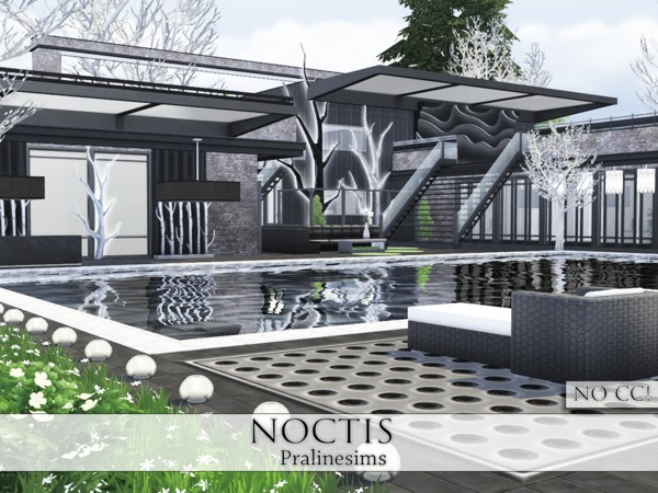 Sims 4 Noctis house by Pralinesims at TSR