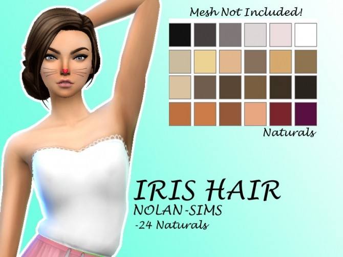 Iris Hair Recolor by Lovelysimmer100 at SimsWorkshop image 11315 670x503 Sims 4 Updates