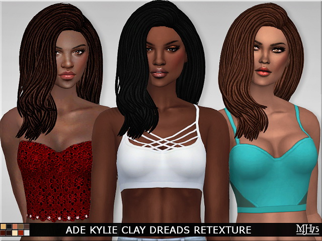 Sims 4 Ade Kylie Clay Dreads Retexture by Margeh75 at Sims Addictions
