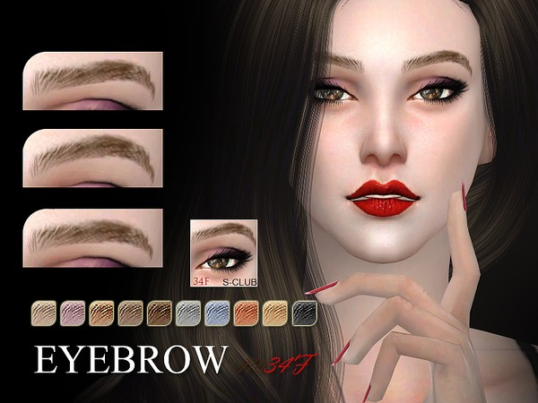 S-Club WM thesims4 Eyebrows 34F - Sims 4 Updates -♦- Sims