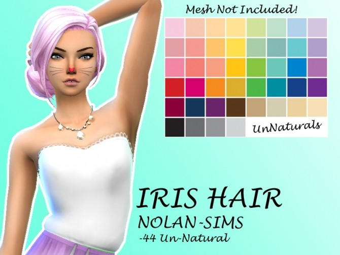 Iris Hair Recolor by Lovelysimmer100 at SimsWorkshop image 11414 670x503 Sims 4 Updates