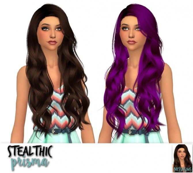 Stealthic Captivated, Prisma & Vapor hair edit at Nessa Sims image 1144 670x601 Sims 4 Updates