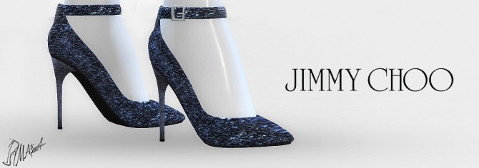 Sims 4 Glitter Ankle Strap Pumps at    select a Sites