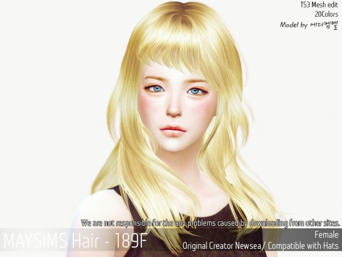 Hair 189F (Newsea) at May Sims image 1167 670x503 Sims 4 Updates