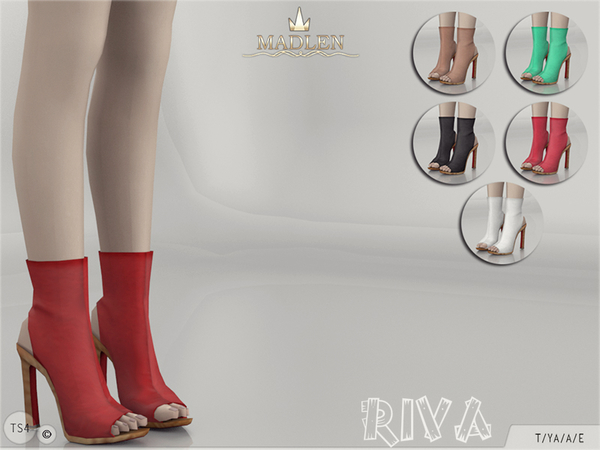 Sims 4 Madlen Riva Boots by MJ95 at TSR