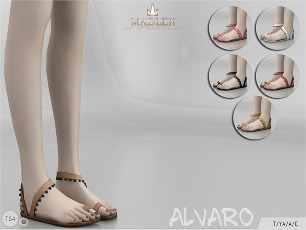 Sims 4 Madlen Alvaro Shoes by MJ95 at TSR