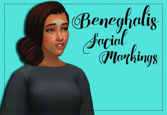 Beneghalis Facial Markings Recolor by Weepingsimmer at SimsWorkshop image 12110 670x459 Sims 4 Updates