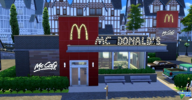 mc donalds by audrcami at l�universims 187 sims 4 updates