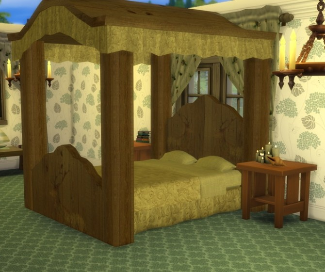 Four Poster Bed At Sims 4 Studio 187 Sims 4 Updates