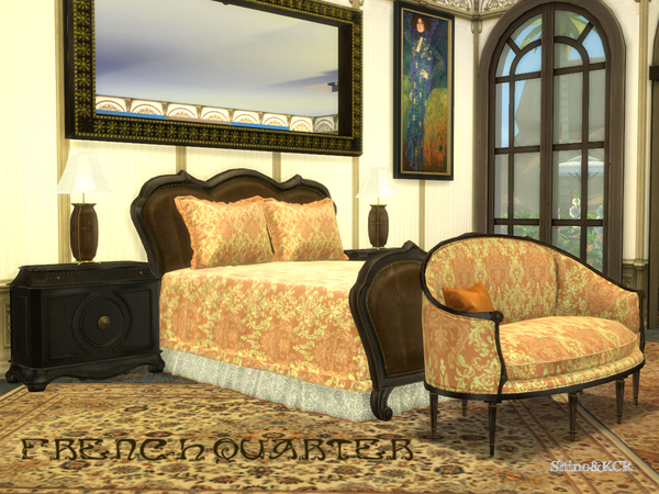 French Quarter Bedroom by ShinoKCR at TSR image 1220 Sims 4 Updates