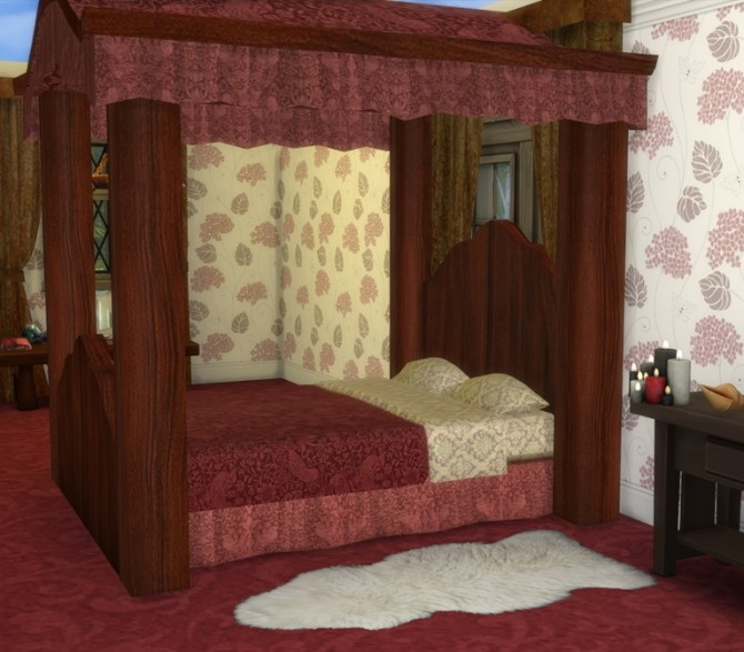 Sims 4 Four Poster Bed at Sims 4 Studio