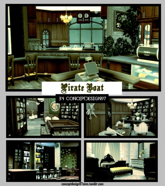 Sims 4 LIVERIA Pirate Boat at ConceptDesign97