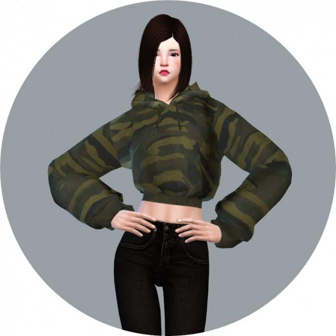 Sims 4 New Crop Hoodie at Marigold