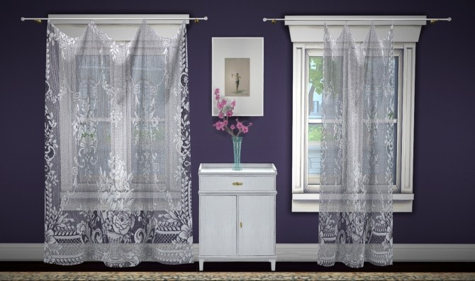 Build a curtain set lace at GreenGirl100 image 1252 670x396 Sims 4 Updates