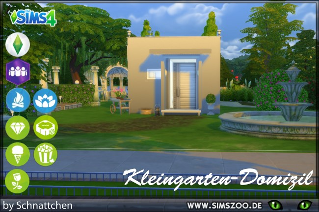Sims 4 Garden bungalow by Schnattchen at Blacky's Sims Zoo