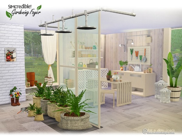 Gardening Foyer Plants by SIMcredible at TSR image 1260 Sims 4 Updates