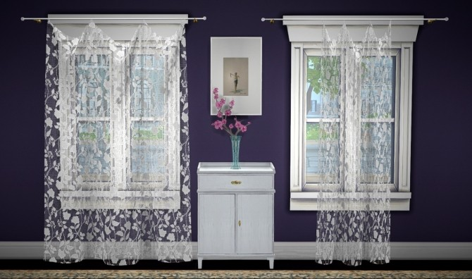 Build a curtain set lace at GreenGirl100 image 1262 670x396 Sims 4 Updates