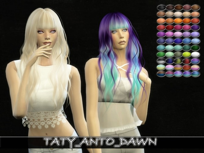 Anto's Dawn hair retexture by Taty86 at SimsWorkshop image 1267 670x503 Sims 4 Updates
