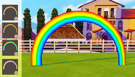 Sims 4 Colourful rainbow at Studio K Creation