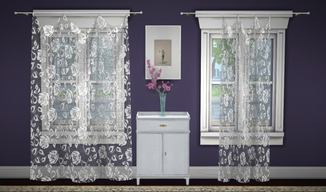 Build a curtain set lace at GreenGirl100 image 1272 670x396 Sims 4 Updates