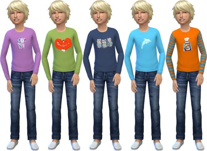 Sims 4 Kids Graphic Tees by deelitefulsimmer at SimsWorkshop